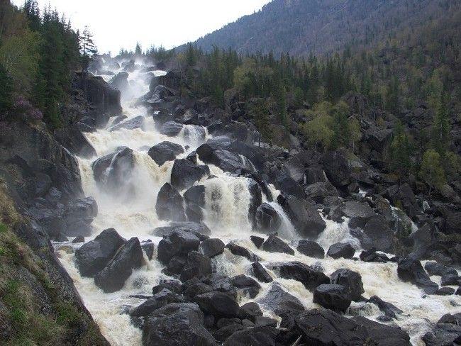 Водопады России
