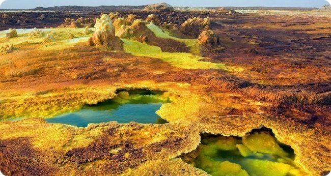 Вулканы Африки. Удивительный Даллол в Эфиопии