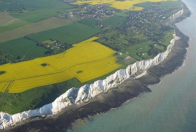 Белые скалы Дувра в Англии