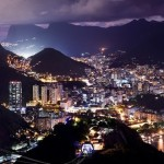 Фото ночного города Рио Де Жанейро